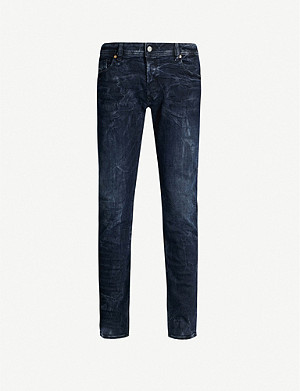 DIESEL Sleenker distressed stretch-denim jeans