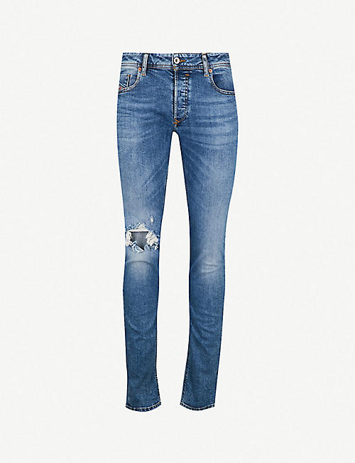 866b4fe9 DIESEL Sleenker ripped stretch-denim jeans