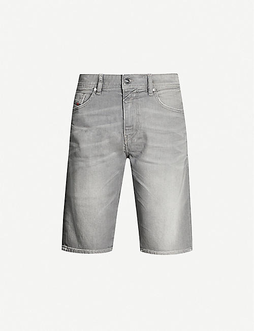DIESEL Thos slim-fit faded-wash denim shorts