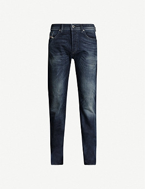 DIESEL Regular slim-fit tapered stretch-denim jeans