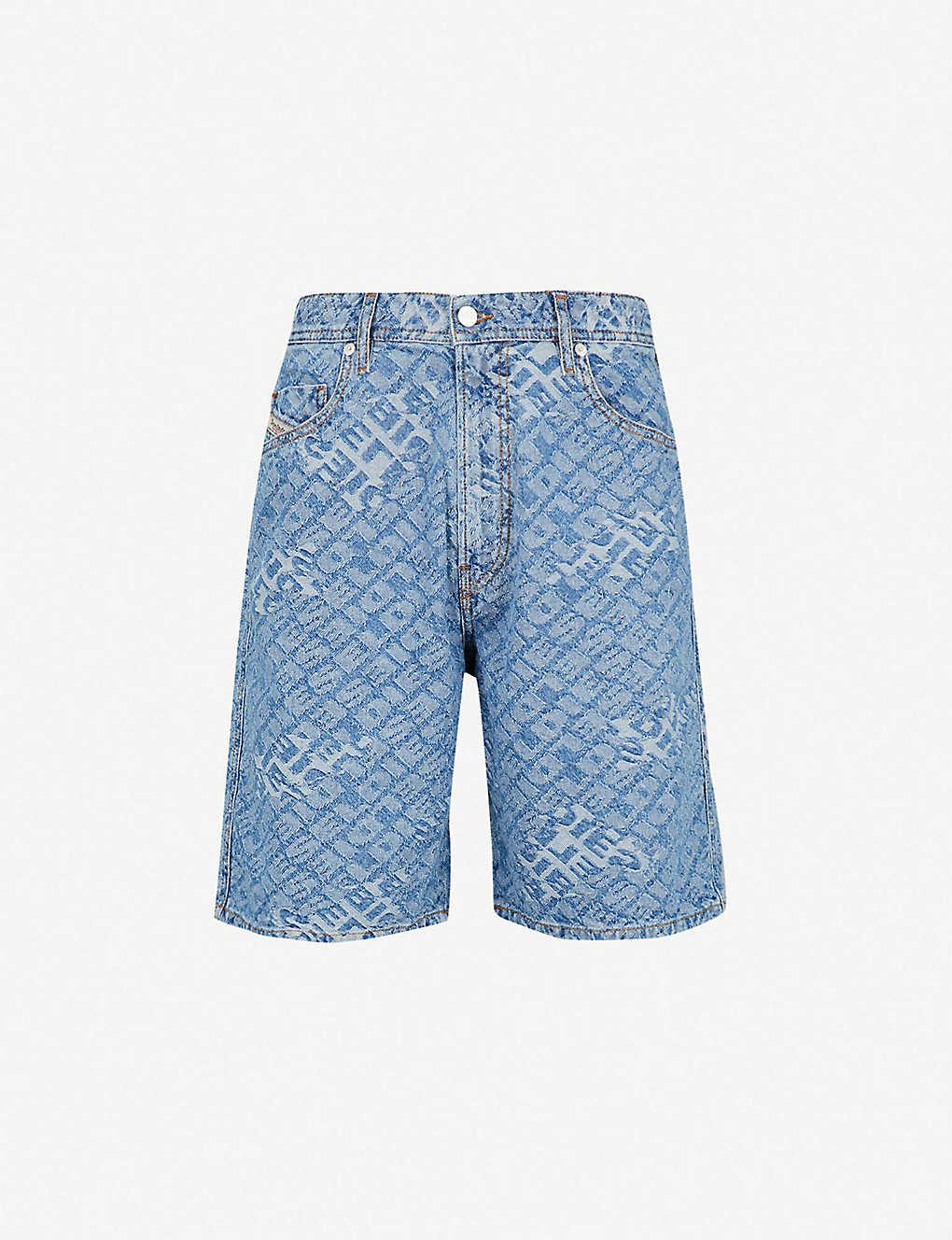 40c2316f568 DIESEL - D-Willoh logo-jacquard denim shorts | Selfridges.com