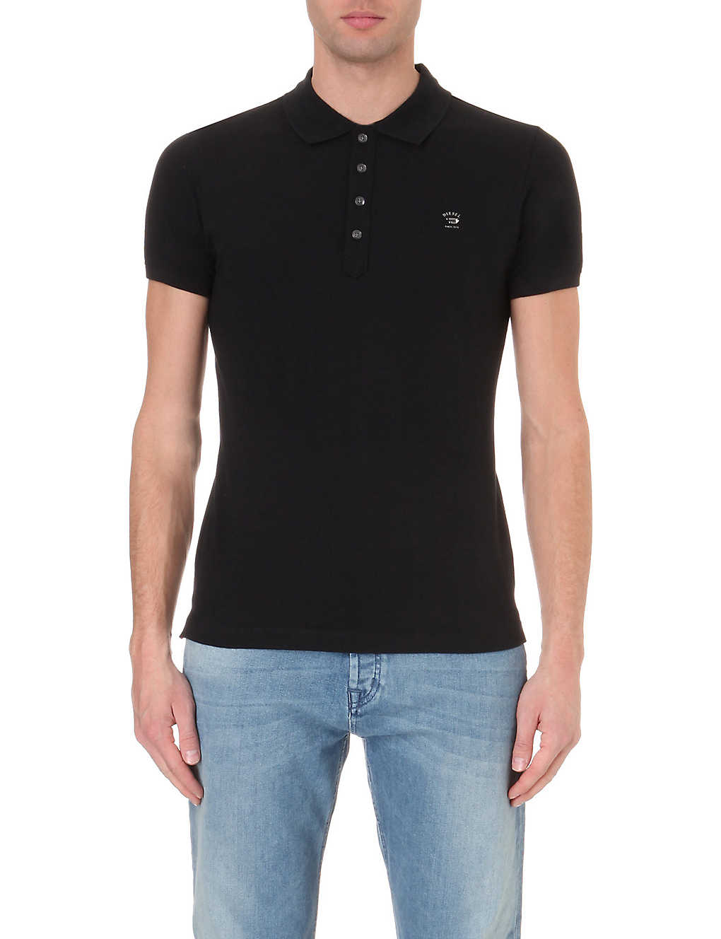 110284ae DIESEL - T-yahei stretch-cotton polo shirt | Selfridges.com