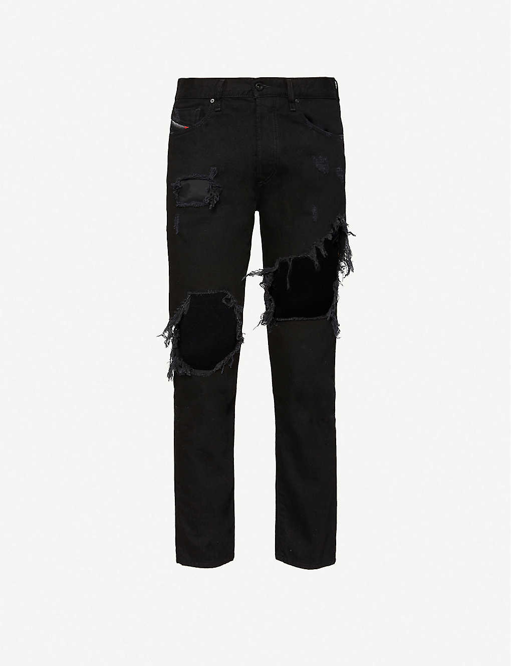ab23714be07 DIESEL - Mharky extreme-ripped jeans   Selfridges.com