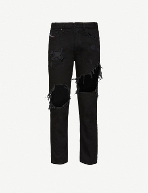DIESEL Mharky extreme-ripped jeans
