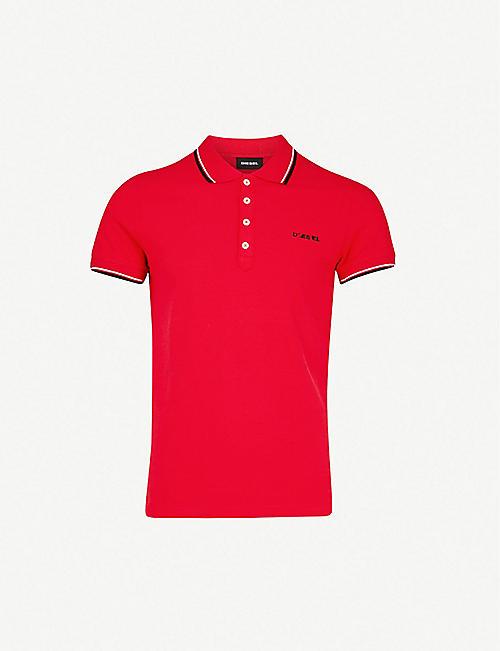 cc6ed534 DIESEL T-Randy stripe-trim cotton polo shirt
