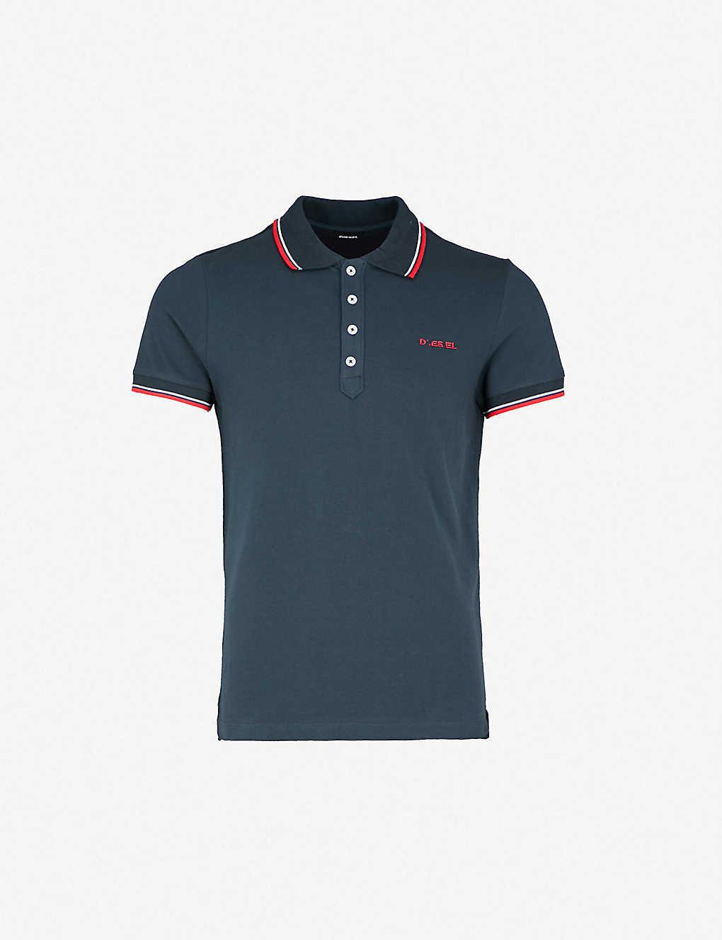 f8209fff DIESEL - T-Randy-Broken cotton-jersey polo shirt | Selfridges.com