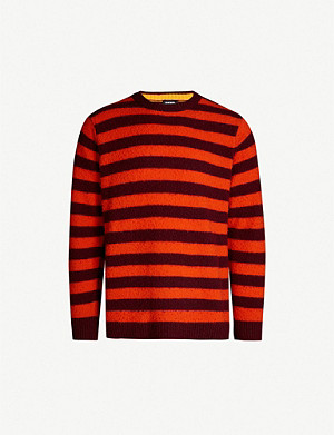 DIESEL K-Piling stripe-pattern wool jumper