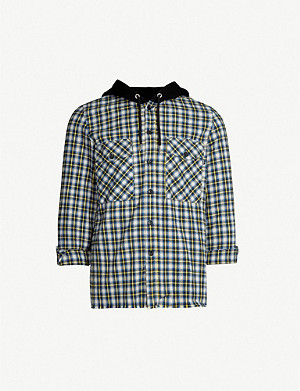 DIESEL S-Bonney checked cotton shirt
