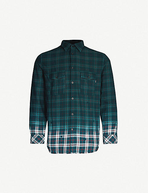 DIESEL S-Miller check-print cotton shirt c43fc6091