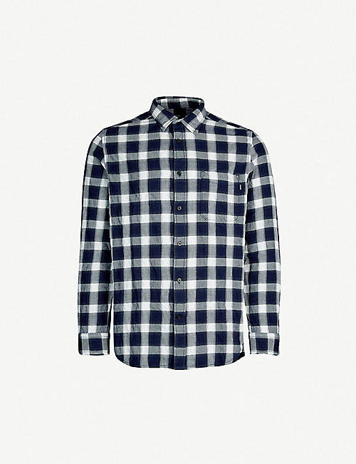 98137006009a DIESEL S-Anob check-print regular-fit cotton shirt