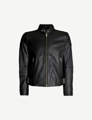 DIESEL L-Rushis zipped-cuff leather jacket