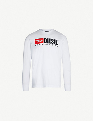 DIESEL T-Just-LS-Division cotton-jersey T-shirt
