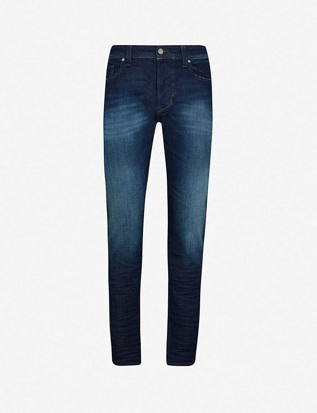 bb84253f ... Larkee-Beex slim-fit tapered stretch-denim jeans zoom ...