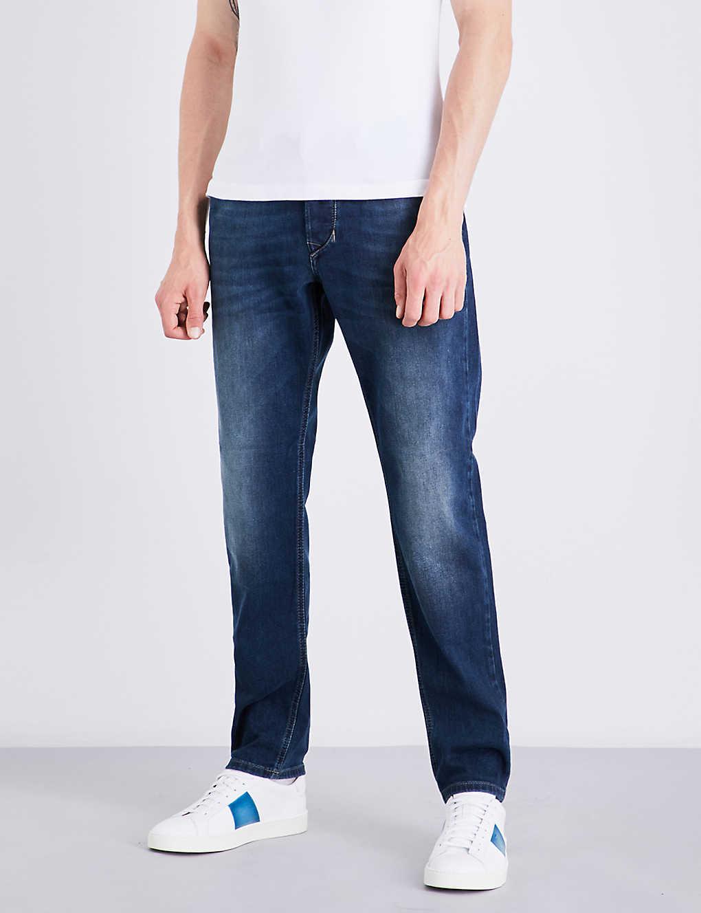 3c4da17977 Larkee-beex regular-fit tapered jeans - Medium wash blue ...