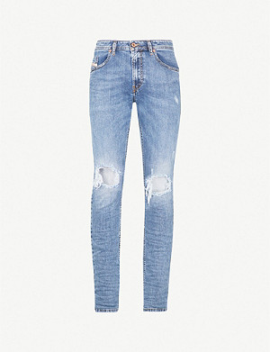 DIESEL Thommer ripped stretch-denim skinny jeans