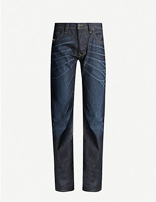 DIESEL: Larkee regular-fit faded straight-leg jeans