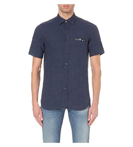 4544e589c5c DIESEL S-emiko regular-fit denim shirt (Navy