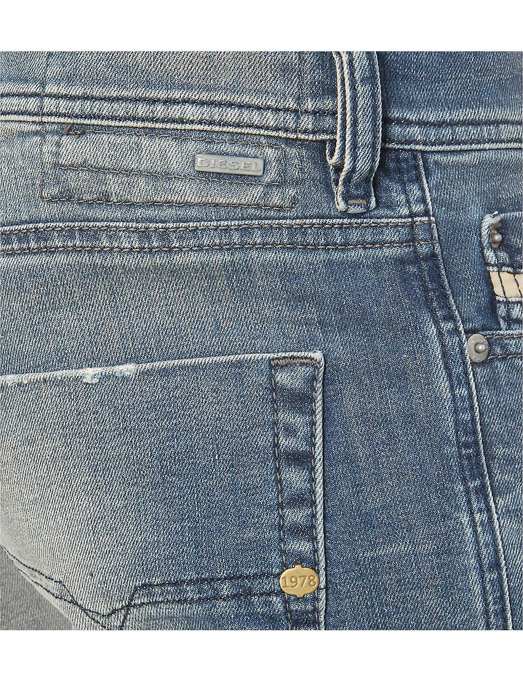 34adf88c DIESEL - Tepphar 0845f slim-fit tapered jeans   Selfridges.com