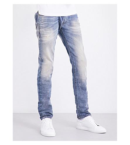 db4de84f DIESEL Thommer 0845F slim-fit straight stretch-cotton jeans (Denim+blue
