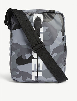 DIESEL Boldmessage camouflage nylon cross-body bag