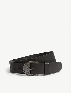 DIESEL B-SURE leather belt