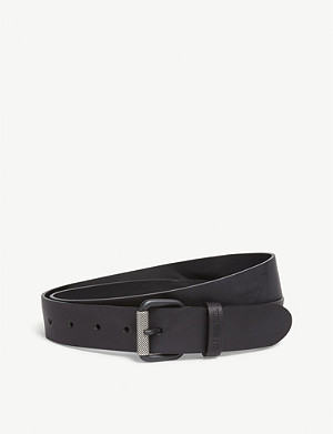 DIESEL Diesel B-Plate leather belt