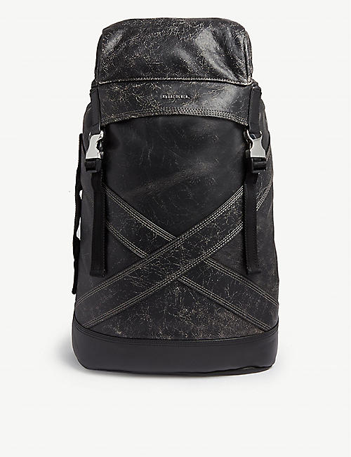 DIESEL L-Blaid Ranner leather backpack