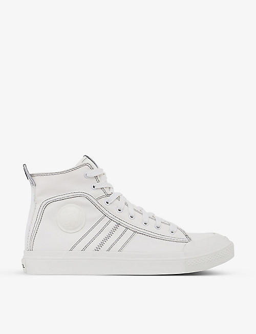 DIESEL: S-Astico mid-top cotton trainers