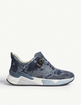DIESEL S-Brentha denim running trainers