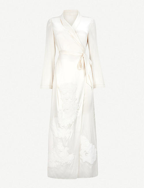 MYLA: Primrose Hill silk-satin robe