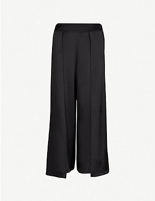 MYLA: Covent Garden silk-satin trousers