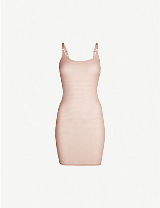 MYLA: Honey Lane stretch-mesh slip dress