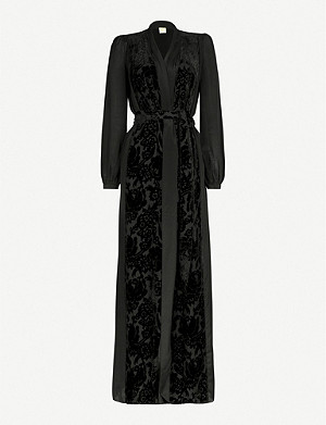 MYLA De Beauvoir velvet and silk-blend robe