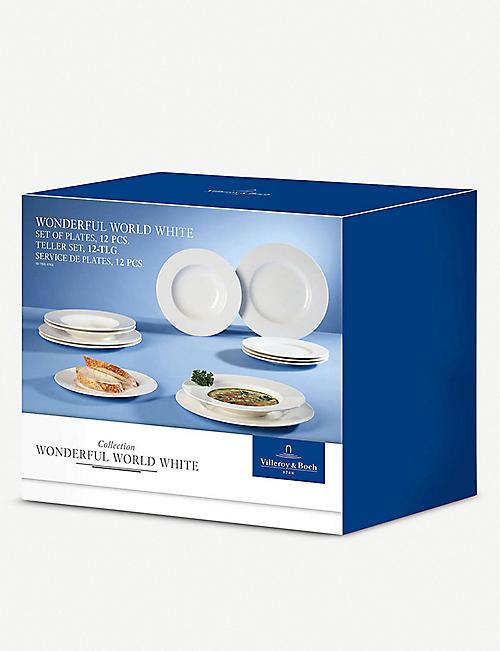 Villeroy /& Boch Wonderful World white Suppenteller 25 cm