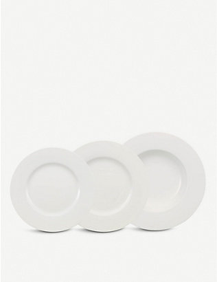 VILLEROY & BOCH: Wonderful World white 12-piece plate set