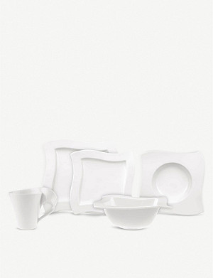 VILLEROY & BOCH NewWave 10-piece porcelain crockery set
