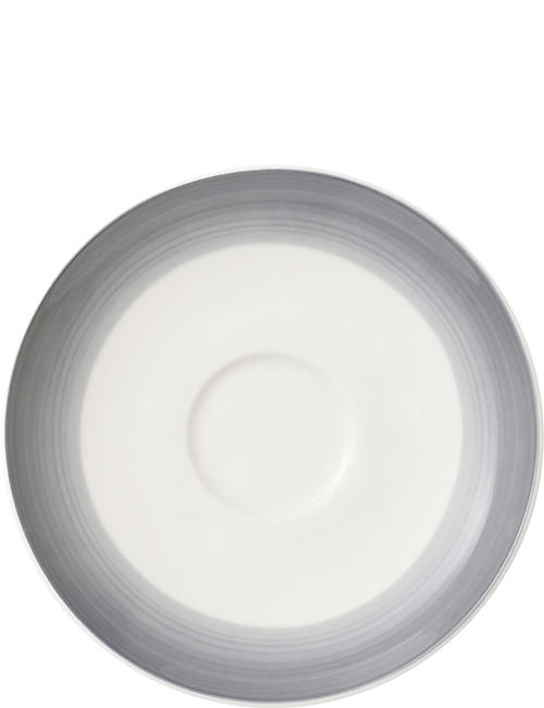 VILLEROY & BOCH: Colourful Life brush-stroke porcelain saucer