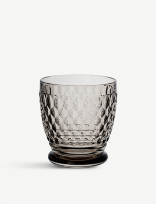 VILLEROY & BOCH Boston crystal water tumbler - smoke