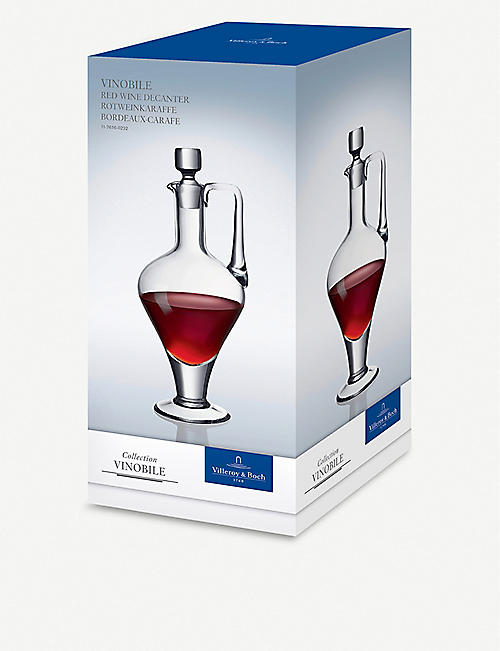 VILLEROY & BOCH Vinobile Bordeaux-French crystal red wine decanter 34.5cm