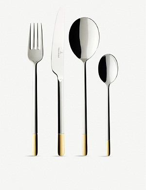 VILLEROY & BOCH Ella gold-plated stainless steel cutlery 70-piece set