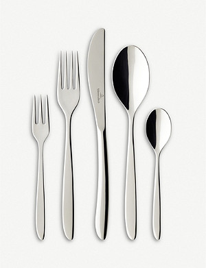 VILLEROY & BOCH SoftWave stainless steel cutlery set of 24