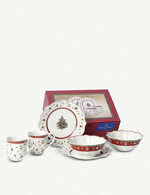 VILLEROY & BOCH Breakfast for Two Christmas crockery set of six
