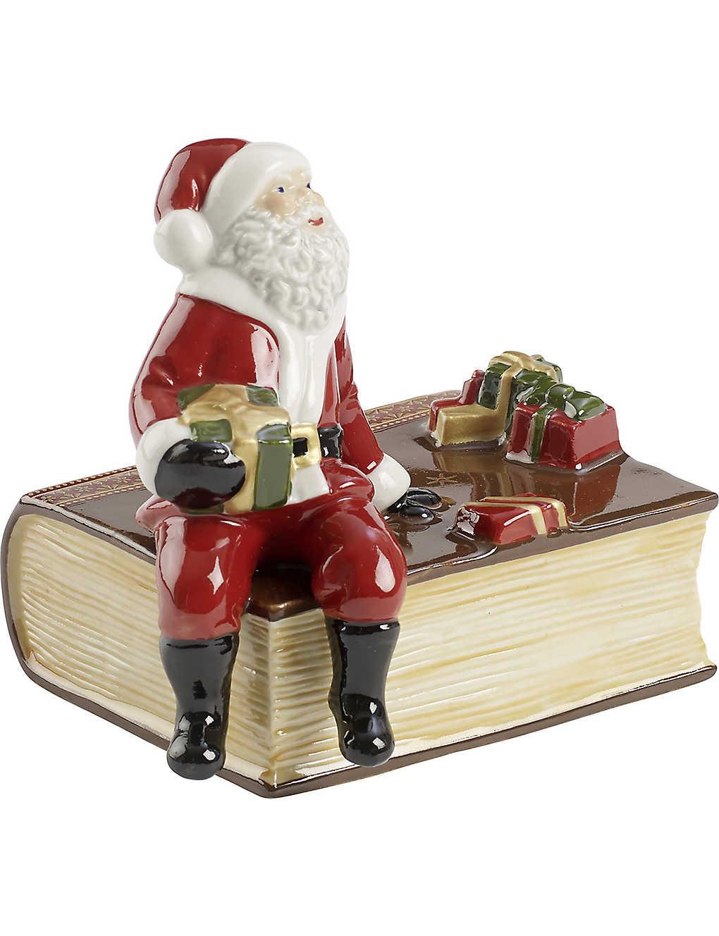 a0ef11cd9ae1a VILLEROY   BOCH - Nostalgic Melody Santa on book music box ...