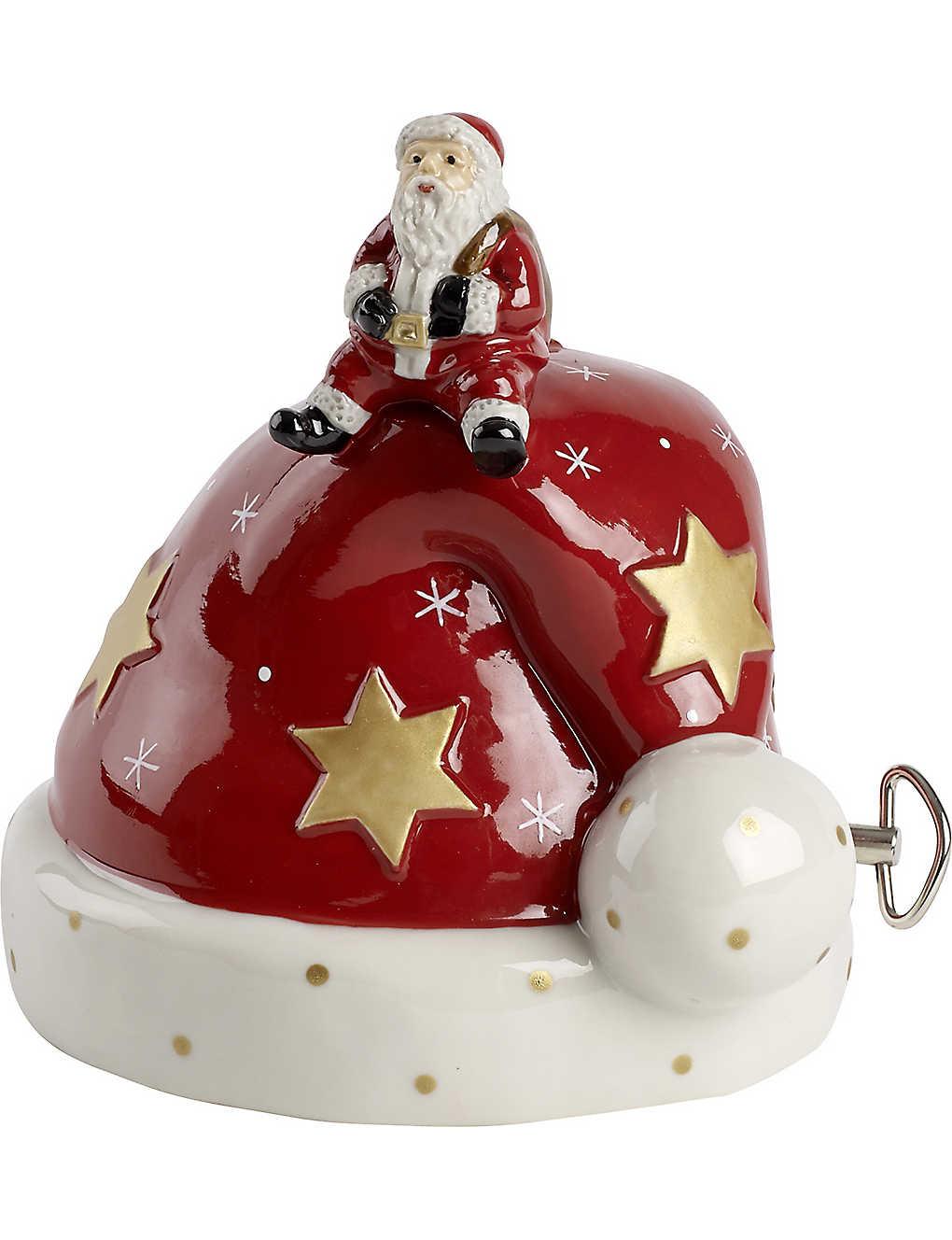 db98b533024d5 VILLEROY   BOCH - Santa hat porcelain musical ornament