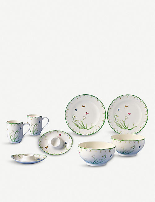 VILLEROY & BOCH Colourful Spring eight-piece breakfast set