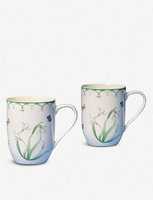 VILLEROY & BOCH Colourful Spring porcelain mugs set of two