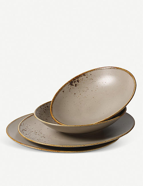 VIVO: Stoneware dinner set of four
