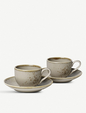 VIVO Stoneware espresso cup set of two