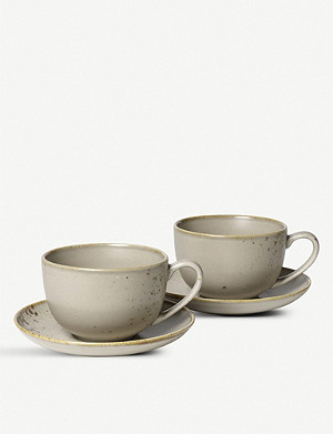 VIVO Stoneware large coffee cup set of two