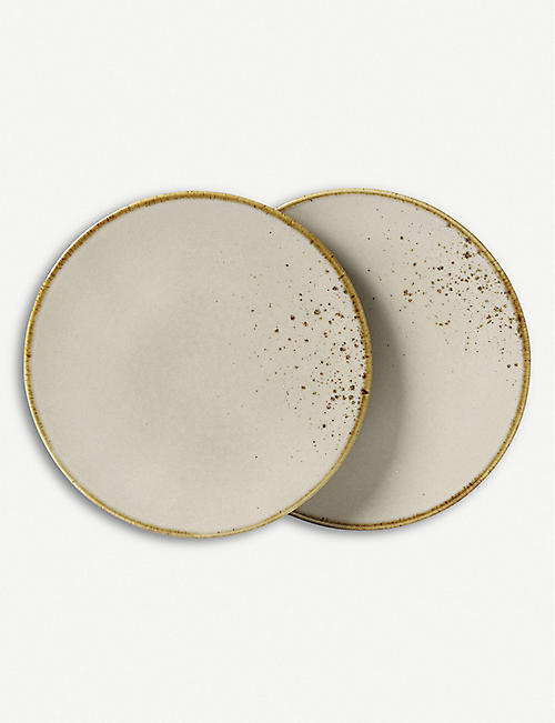 VIVO Stoneware salad plate set of two